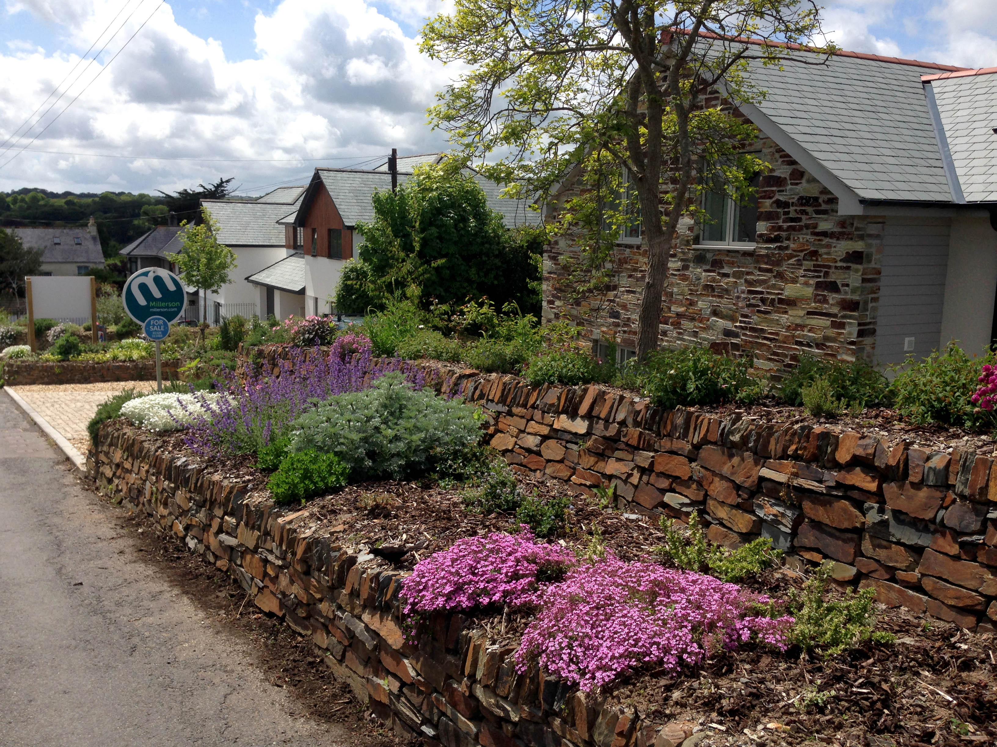 Rosemary cottages view  along boundary wall